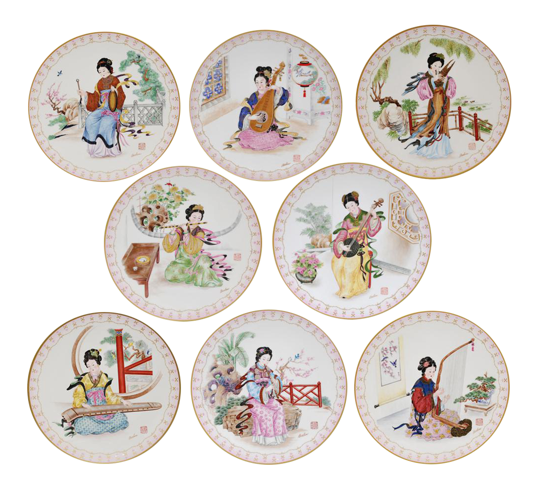 Musical Maidens of the Chinese Imperial Dynasties Decorative Plates - Set of 8  sc 1 st  Chairish & Vintage \u0026 Used Chinese Decorative Plates | Chairish