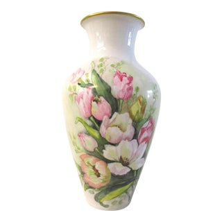1970s German Bavarian Floral Vase For Sale