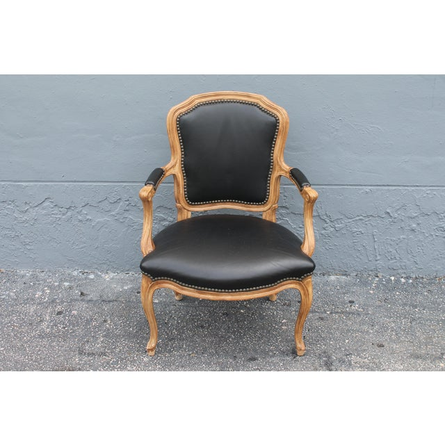 1960s Vintage Louis XV Style Carved Walnut Armchair For Sale - Image 9 of 9