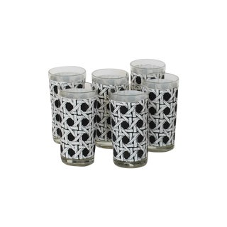 Cane Mid-Century Highball Glasses - Set of 6