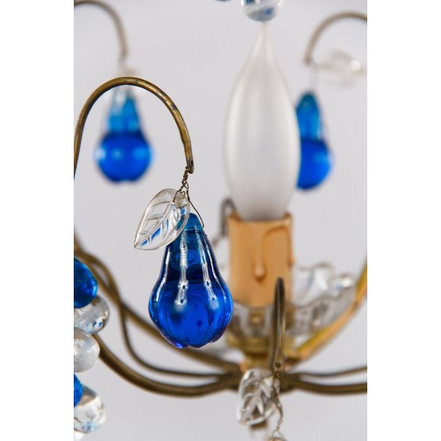 Mid-Century Modern Vintage Blue Murano Chandelier For Sale - Image 3 of 10