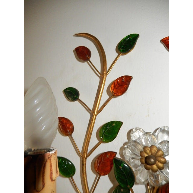 French French Maison Bagues Style Colored Floral Beaded Sconces For Sale - Image 3 of 10