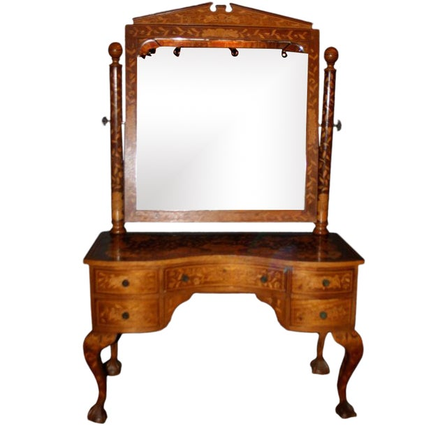 Late 19th Century Dutch Marquetry Dressing Table For Sale