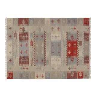 """Leon Banilivi Navajo Style Kilim Rug - 5'6"""" X 8' For Sale"""