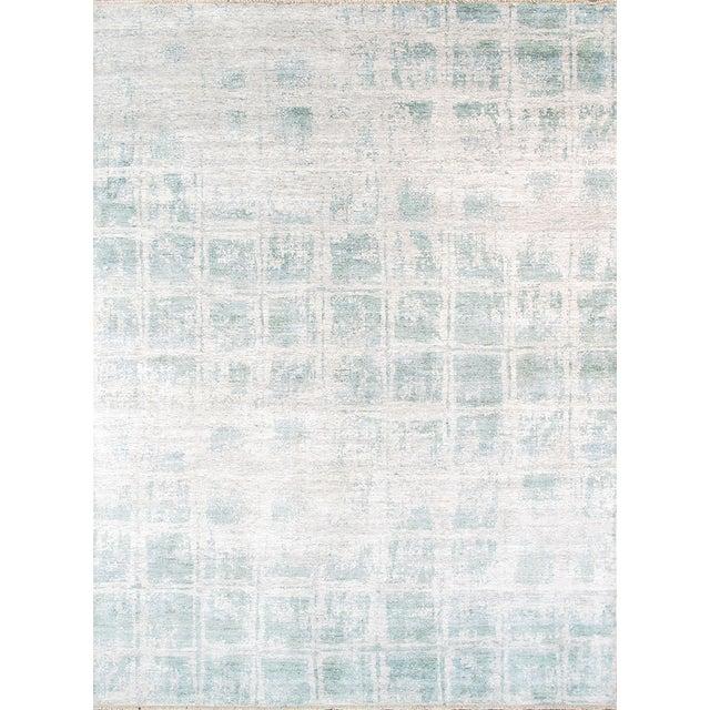 Pasargad's Aqua Silk Collection Rug - 9' x 12' - Image 1 of 6