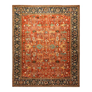 One-Of-A-Kind Oriental Serapi Hand-Knotted Area Rug, Crimson, 8' 2 X 9' 8 For Sale