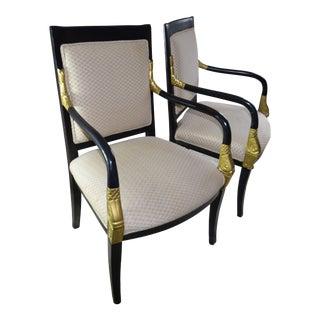 Delphinium Accent Armchairs - a Pair For Sale