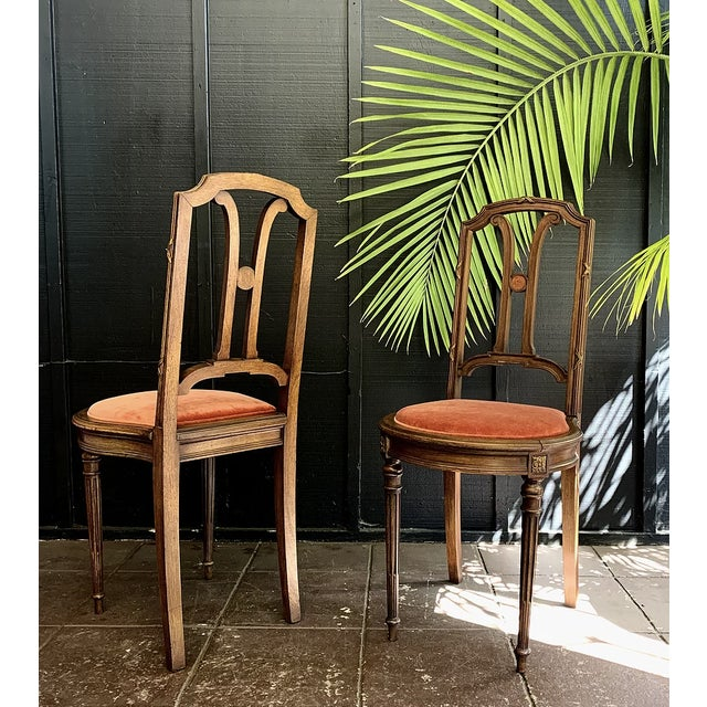 Circa: 1910s Condition: Excellent with minor patina Newly upholstered Victorian chair with original carved detailing on...
