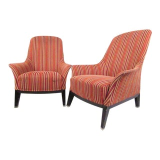Massimo Scolari for Giorgetti Italian Modern Lounge Chairs - A Pair For Sale