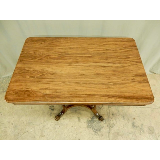 Traditional Italian Walnut Pedestal Table For Sale - Image 3 of 8