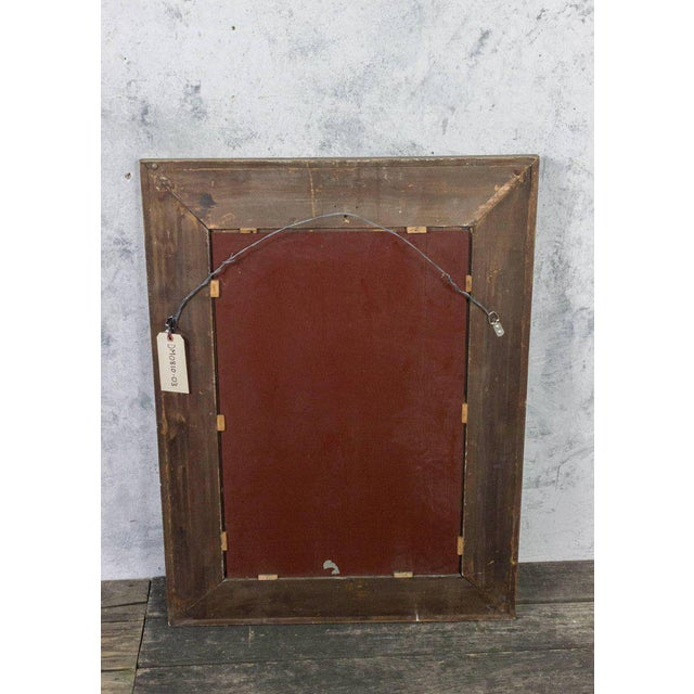 French, 1940s Reverse Painted Mirror For Sale - Image 9 of 11
