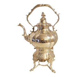 Antique Reed & Barton 1795 1/2 Silver on Copper Coffee Chafer Urn For Sale