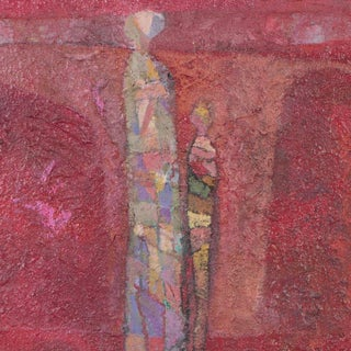 Vintage Figurative Abstract Painting For Sale