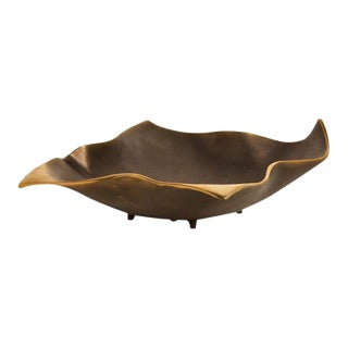 AURA LONDON Fold Decorative Object, Dark Chestnut For Sale