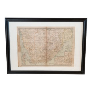 Antique Hand-Colored Northern Africa Map For Sale