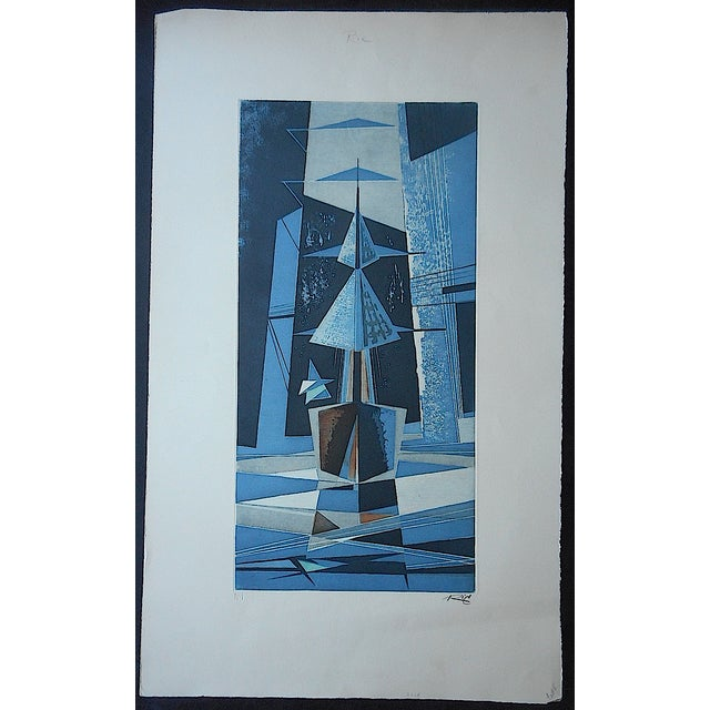 Mid 20th C. Modern Sailboats Etching - Image 2 of 5