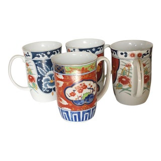 Gumps Imari Mugs, Set of 4 For Sale