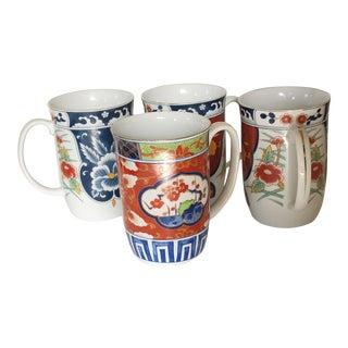 Imari Mugs, Set of 4 For Sale