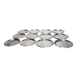 Vintage Wmf German Silver Dishes/Coasters - Set of 12 For Sale