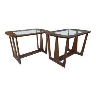 Bassett Mid-Century Modern Sculpted End Tables - a Pair For Sale