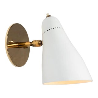 1950s Mid-Century Modern Gino Sarfatti Perforated Cone Sconce for Arteluce For Sale