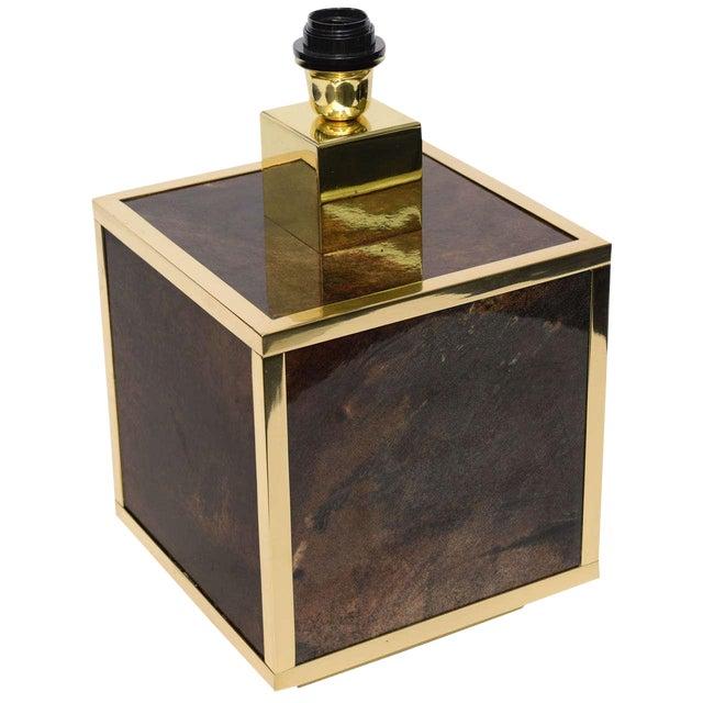 Aldo Tura Goatskin and Brass Table Lamp - Image 1 of 10