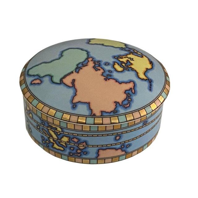 Mid Century Tiffany Round World Box For Sale - Image 4 of 8