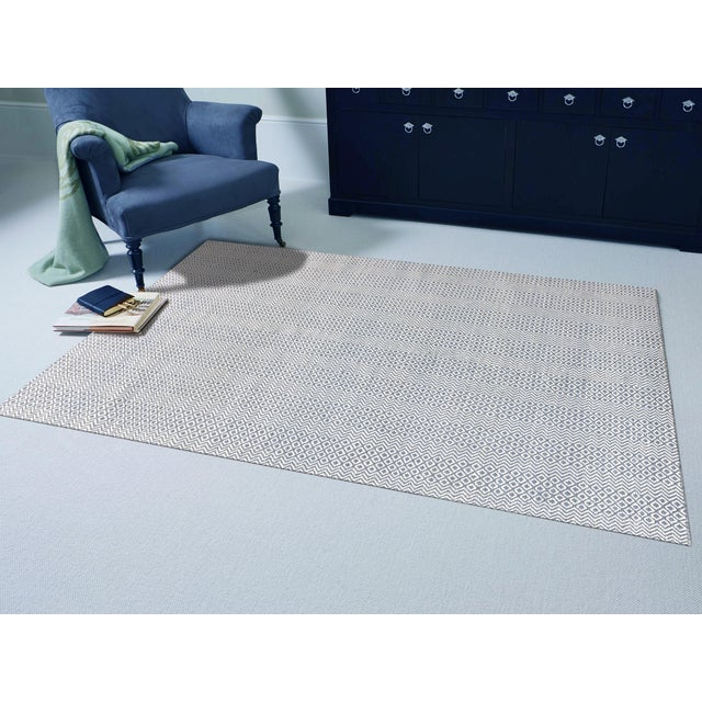 Contemporary Bella Modern Blue Hand-Woven Rug 8'x10' For Sale - Image 3 of 4