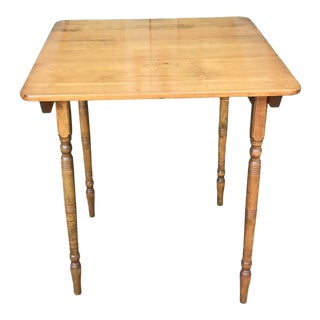 1950s Vintage Maple Folding Table For Sale