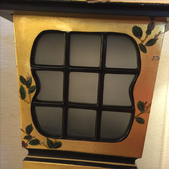 Chinoiserie Gold & Black Lamps - Pair - Image 5 of 6