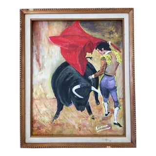 """Matador De Toros"" Signed Original Oil Painting For Sale"