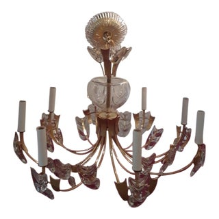 1970s Palwa Gold Plated Chandelier