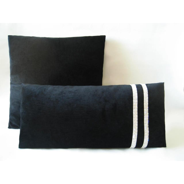 Black Chenille Decorative Square Pillow Chairish