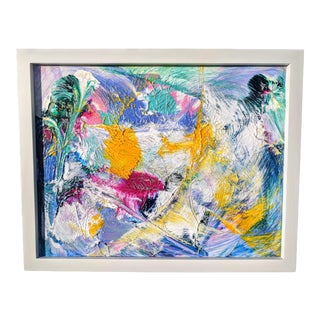 Original Abstract Oil Painting Framed For Sale