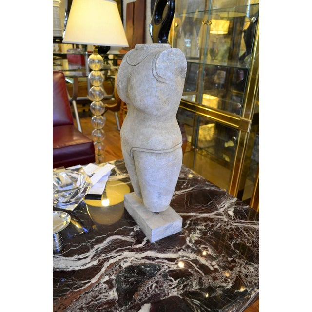 Mid 20th Century Indian Style Marble Torso Sculpture For Sale - Image 5 of 7