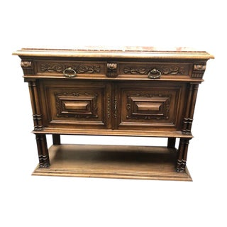 Antique Marble Top Dining Console For Sale