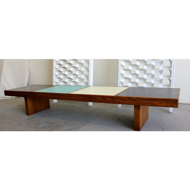 Harvey Probber Colorblock Coffee Table Bench - Image 4 of 10