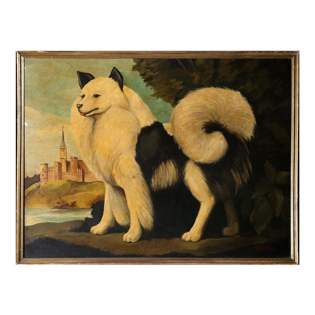 "William Skilling, ""Dog and Castle"", Framed Oil Painting For Sale"