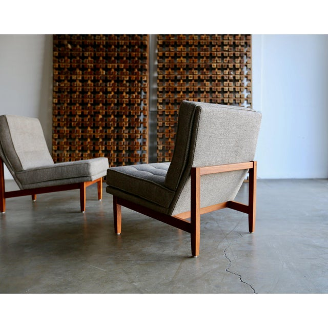 Mid Century Florence Knoll Slipper Lounge Chairs - a Pair For Sale In Los Angeles - Image 6 of 12