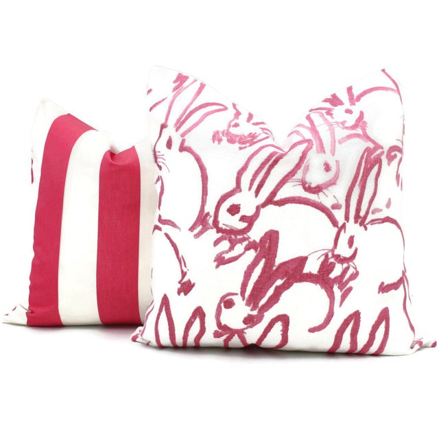 Lee Jofa Groundworks Hutch Pink Bunny Pillow For Sale - Image 4 of 7