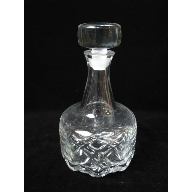 Late 20th Century Vintage Mid-Century Modern Olle Alberius for Orrefors Swedish Crystal Glass Decanter For Sale - Image 5 of 5