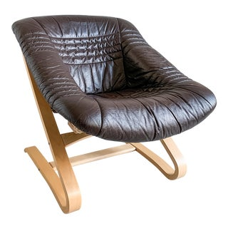 Brown Bentwood Cantilever Chair For Sale