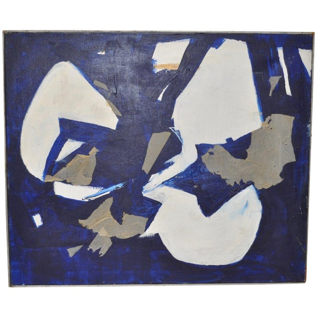 1960s Vintage Mixed Media Abstract Painting - Image 1 of 4