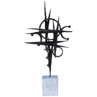 1970s Steel Abstract Table Sculpture For Sale