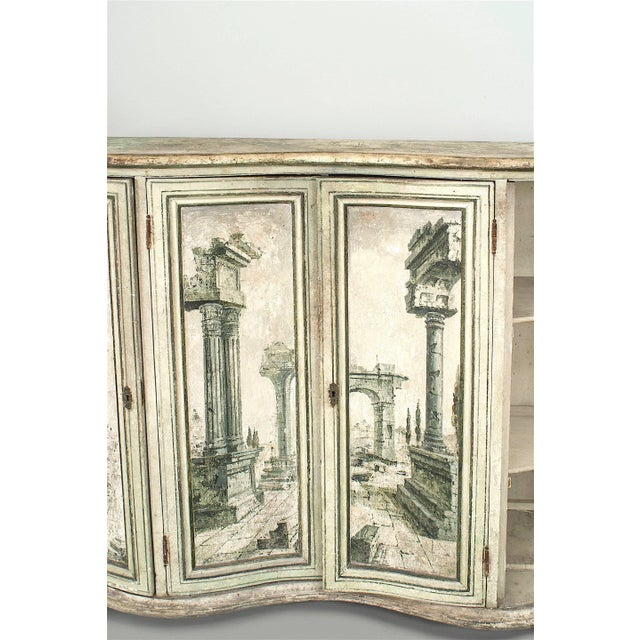 Pair of Italian Neoclassical Grisaille Painted Commodes For Sale - Image 4 of 7