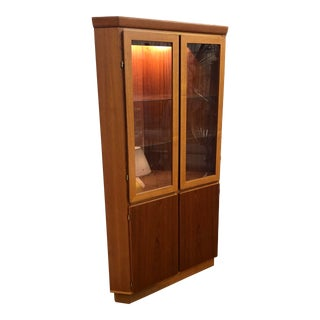 Teak Corner Cabinet by Skovby For Sale