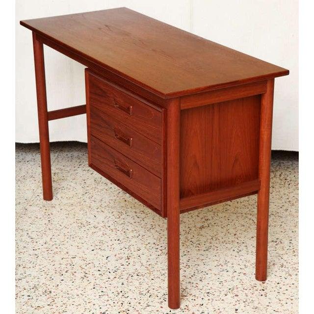 1950s Arne Vodder 1960s Petite Danish Modern Teak Writing Table Desk For Sale - Image 5 of 10