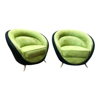 Guglielmo Veronesi Armchairs for ISA, Italy For Sale
