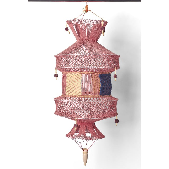 Boho Chic Handmade Mauve Lantern For Sale - Image 4 of 4