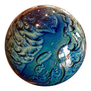 Josh Simpson Glass Planet Paperweight